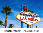 the welcome to fabulous las... | Shutterstock . vector #787838410