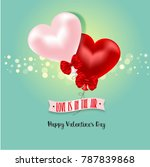 happy valentine's day with... | Shutterstock . vector #787839868