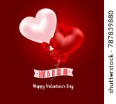 happy valentine's day with... | Shutterstock . vector #787839880