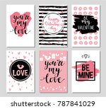 set of valentine's day card.... | Shutterstock .eps vector #787841029