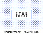 star objects vector pattern.... | Shutterstock .eps vector #787841488
