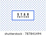 star objects vector pattern.... | Shutterstock .eps vector #787841494