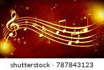 a beautiful musical score | Shutterstock . vector #787843123