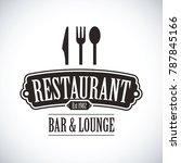 black restaurant logo | Shutterstock .eps vector #787845166