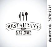 black restaurant logo | Shutterstock .eps vector #787845169