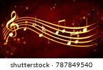 a beautiful musical score | Shutterstock . vector #787849540