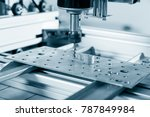 cnc milling machine working ... | Shutterstock . vector #787849984