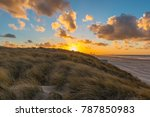 the sand dunes of ostend and... | Shutterstock . vector #787850983