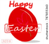 happy holiday . happy easter .... | Shutterstock .eps vector #787855360
