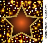 poster template with retro star ... | Shutterstock .eps vector #787855894