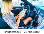 young blond business woman...   Shutterstock . vector #787866880