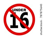 no 16 years icon illustration ... | Shutterstock .eps vector #787875640