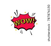 bubble with expression text wow.... | Shutterstock .eps vector #787876150