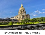 eglise du dome les invalides or ... | Shutterstock . vector #787879558
