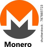 vector illustration of monero   ... | Shutterstock .eps vector #787885723