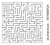 abstract maze labyrinth with... | Shutterstock .eps vector #787888924