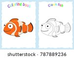 coloring book page for... | Shutterstock .eps vector #787889236