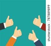 hands show thumbs up. vector... | Shutterstock .eps vector #787889899