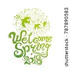 welcome spring handwriting...   Shutterstock .eps vector #787890583