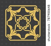 vintage baroque ornament. retro ... | Shutterstock .eps vector #787900648