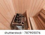 interior of new finnish sauna ... | Shutterstock . vector #787905076