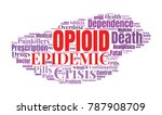 opioid crisis word cloud... | Shutterstock .eps vector #787908709