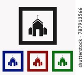 church icon vector  filled flat ... | Shutterstock .eps vector #787913566