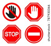 set of prohibiting sign. signs... | Shutterstock . vector #787930366