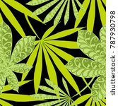exotic seamless pattern with... | Shutterstock .eps vector #787930798