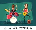 rock music band. old school... | Shutterstock . vector #787934164
