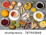 useful products for prevention... | Shutterstock . vector #787943848