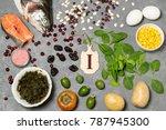 food is source of iodine....   Shutterstock . vector #787945300