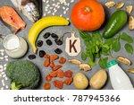 food is source of potassium....   Shutterstock . vector #787945366