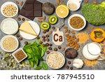 food is source of calcium.... | Shutterstock . vector #787945510