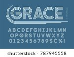 abstract linear font  letters... | Shutterstock .eps vector #787945558