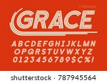 abstract linear font  letters... | Shutterstock .eps vector #787945564