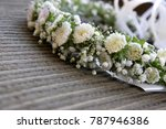 bezel of white flowers.... | Shutterstock . vector #787946386