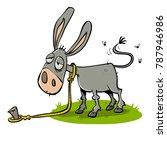Lazy Bored Donkey