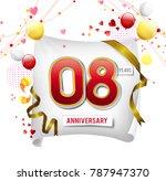 8 years anniversary vector... | Shutterstock .eps vector #787947370