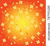 orange background with floral...   Shutterstock .eps vector #78795100