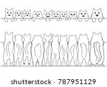 standing cats front and back... | Shutterstock .eps vector #787951129