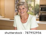 beautiful portrait of pretty... | Shutterstock . vector #787952956