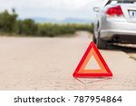 the car broke down on the road. ...   Shutterstock . vector #787954864