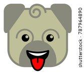 animal zodiac dog | Shutterstock .eps vector #787964890