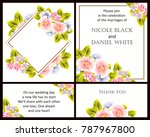 vintage delicate invitation... | Shutterstock .eps vector #787967800