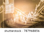 stock market or forex trading... | Shutterstock . vector #787968856