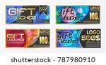 gift certificate voucher coupon ...   Shutterstock .eps vector #787980910