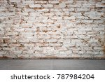 blank space brick wall and... | Shutterstock . vector #787984204