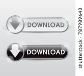 button download web glossy... | Shutterstock .eps vector #787989643