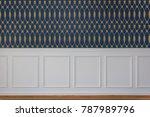 white rectangle wood paneling... | Shutterstock . vector #787989796